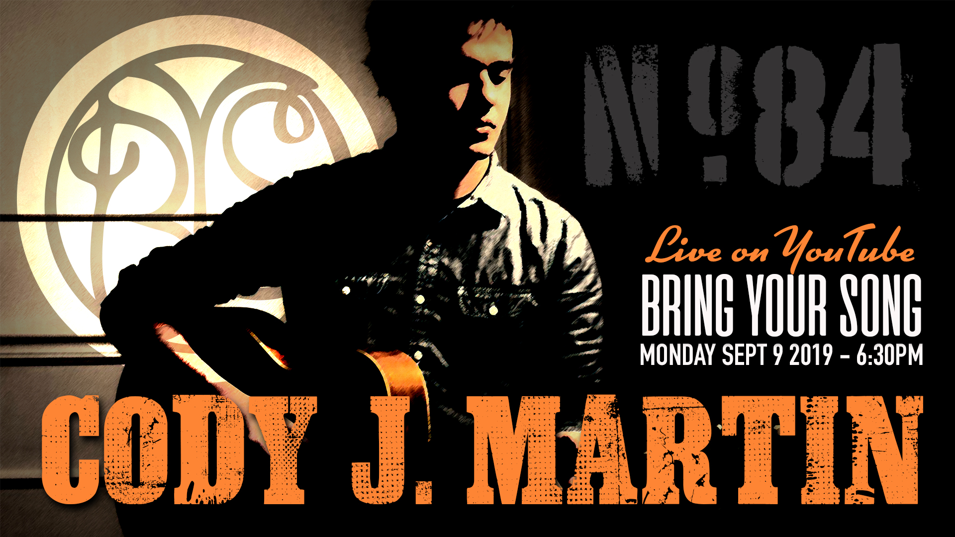 Cody J. Martin, Featured Artist at BRING YOUR SONG in Canton Ohio, September 9th