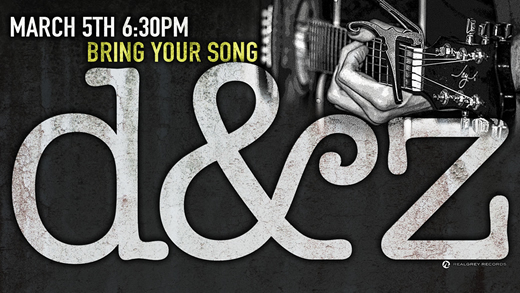 Bring Your Song Writers Night at Realgrey Records Featuring D&Z