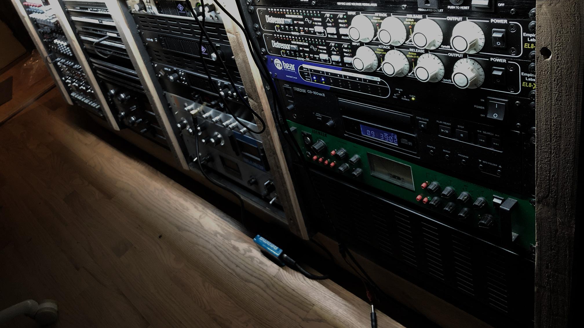 El8 end of the control room rack