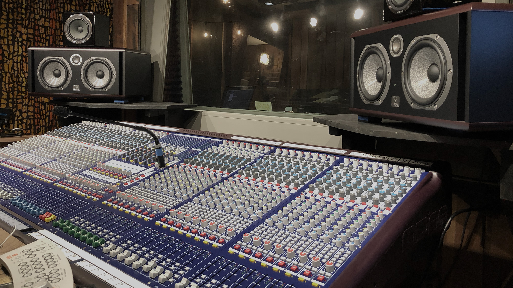 The Midas Verona Console with the Focal Twin B monitors