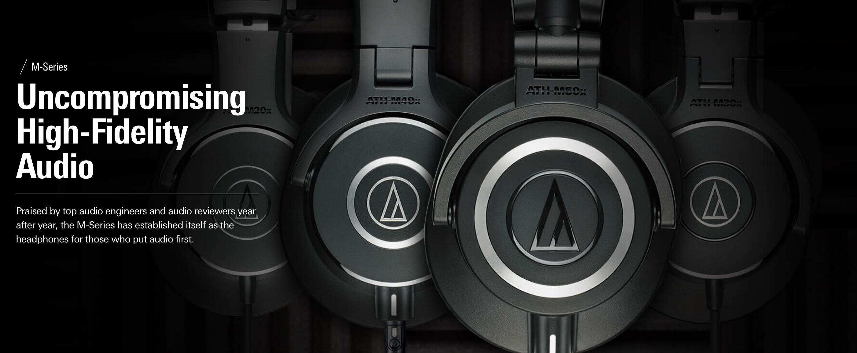 4 Audio Technica M50 Series Headphones